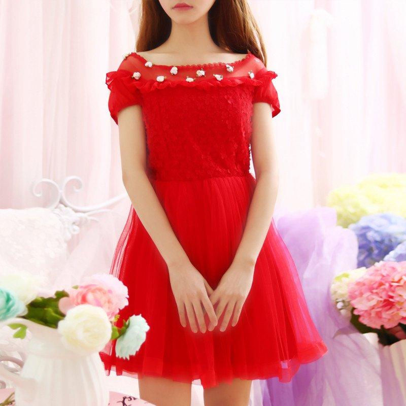 Pink Bunny/Black Cat One Piece Swimwear from Fashion Kawaii [Japan & Korea]