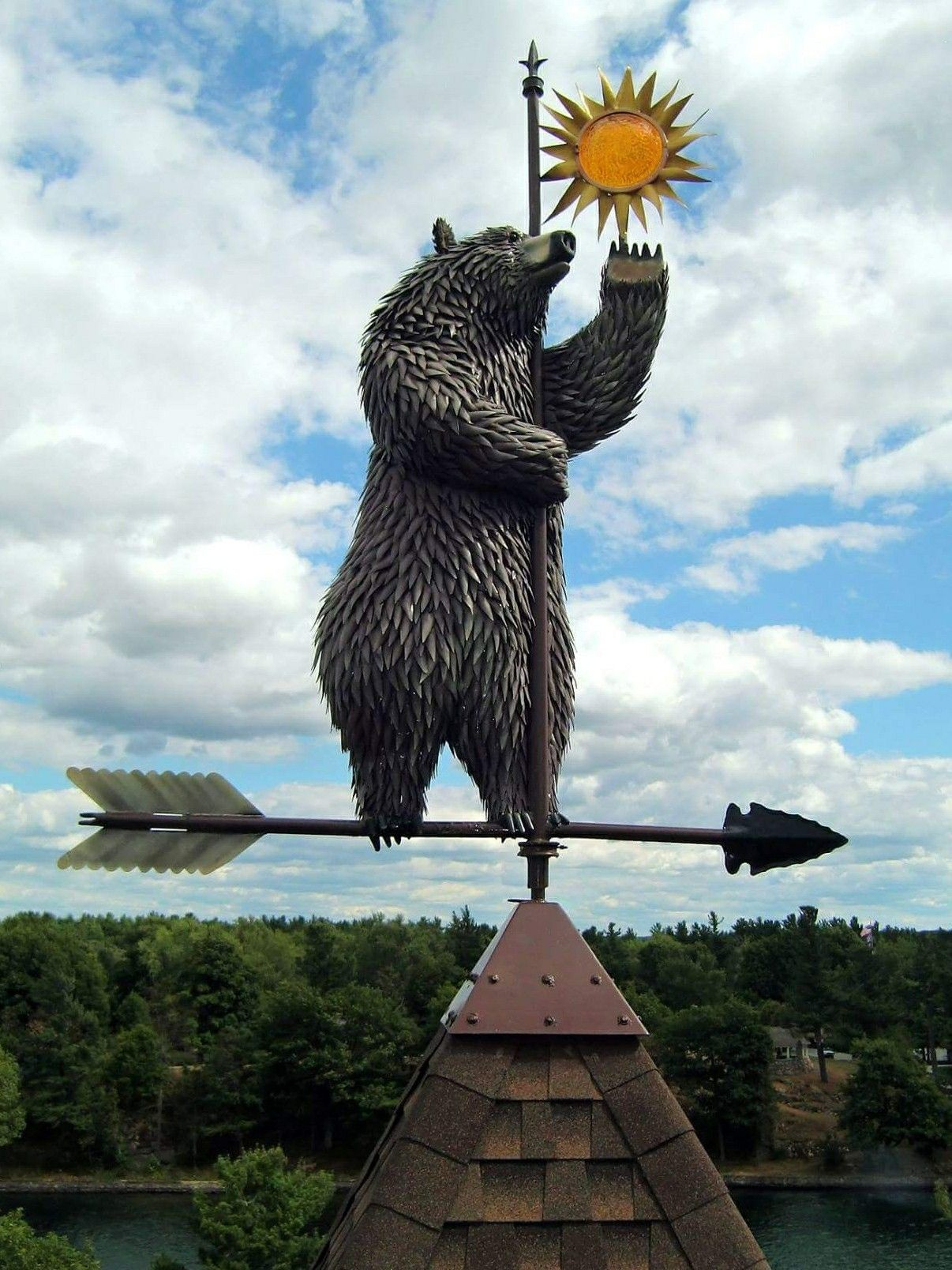 Bear Weathervane, by ; Animals