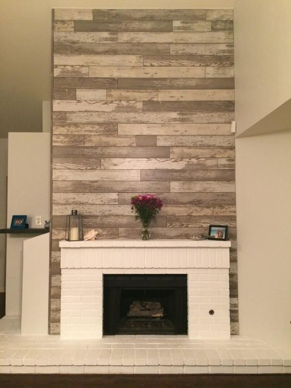 artistic pallet peel and stick wood wall design and decorations rh pinterest com