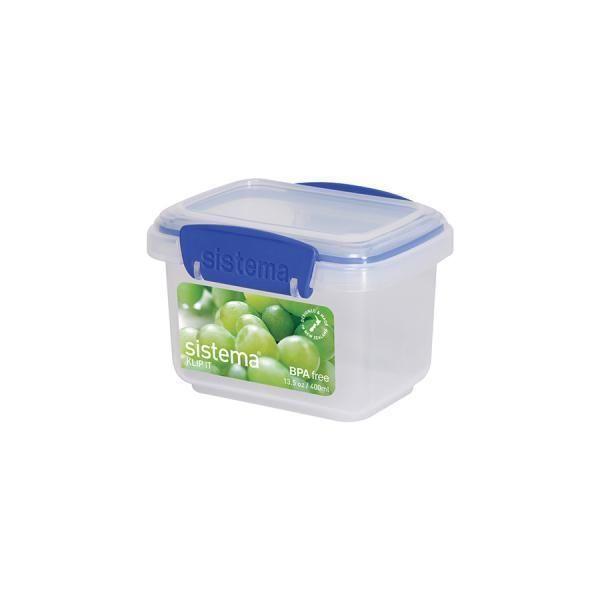 sistema set 12 airtight containers rectangular polypropylene lt0 4 food storage