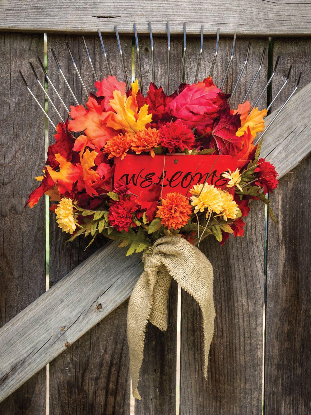 Autumn Garden Gate Decor By Sam Henderson Of Todayu0027s Nest For HGTV Gardens.By  @