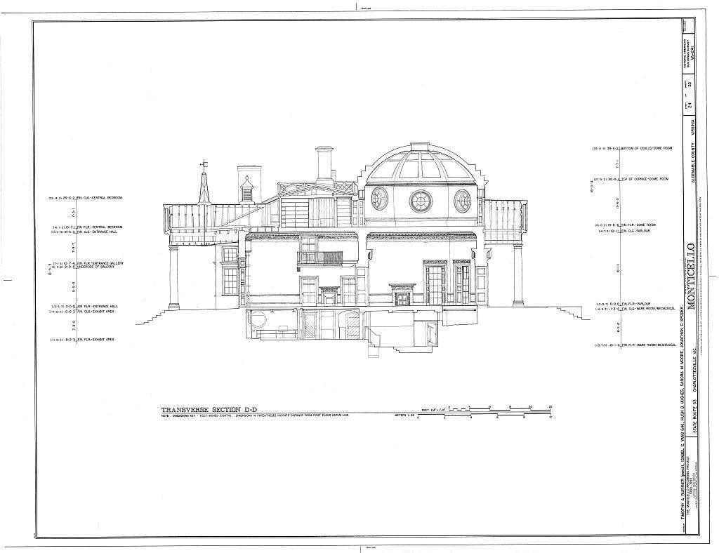 Monticello Monticello Architecture Blueprints Historical Architecture