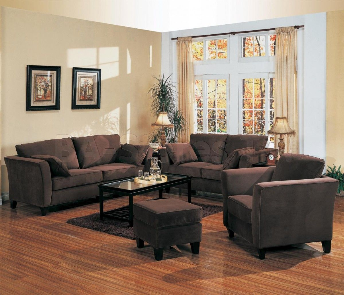 Wall Colour With Brown Furniture