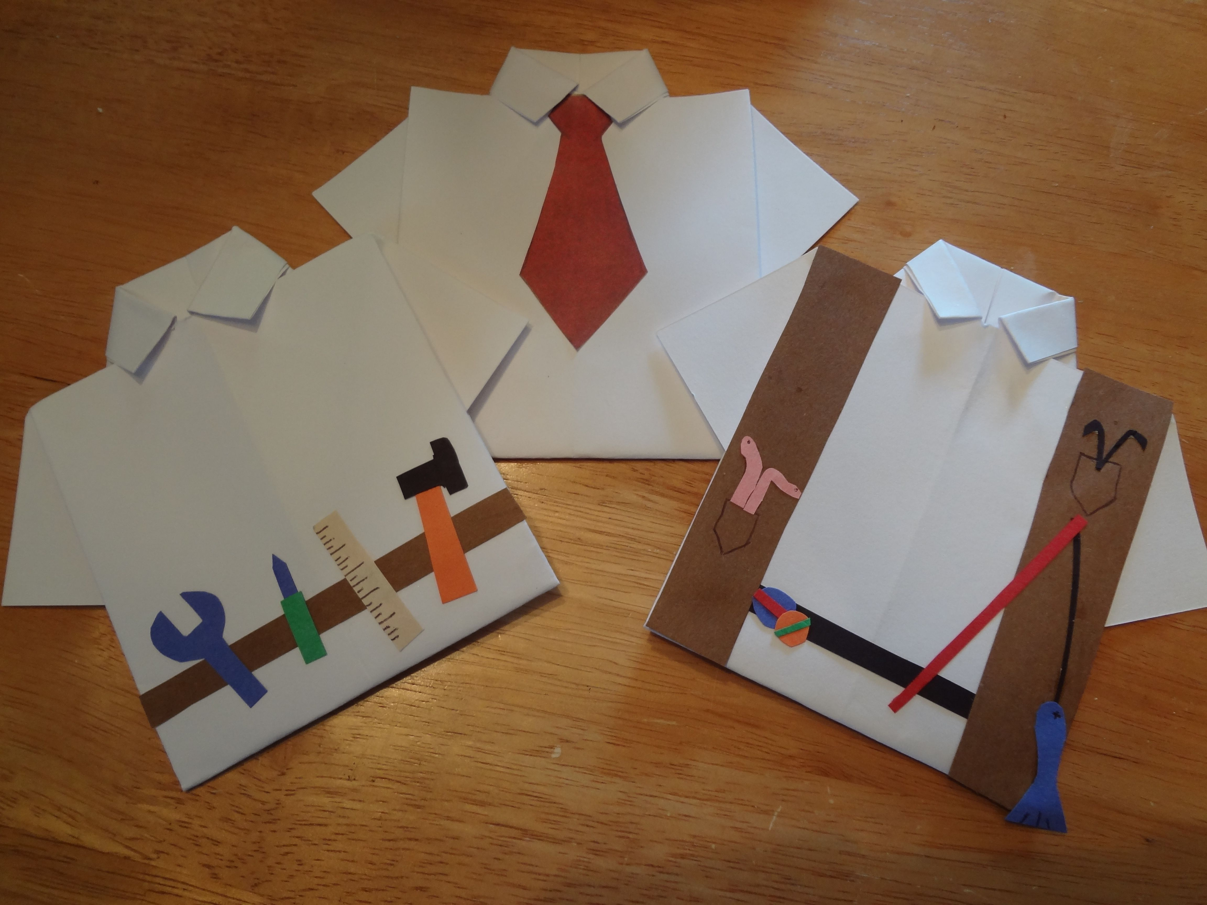 Easy Diy Fathers Day Cards Make An Origami Shirt, Then
