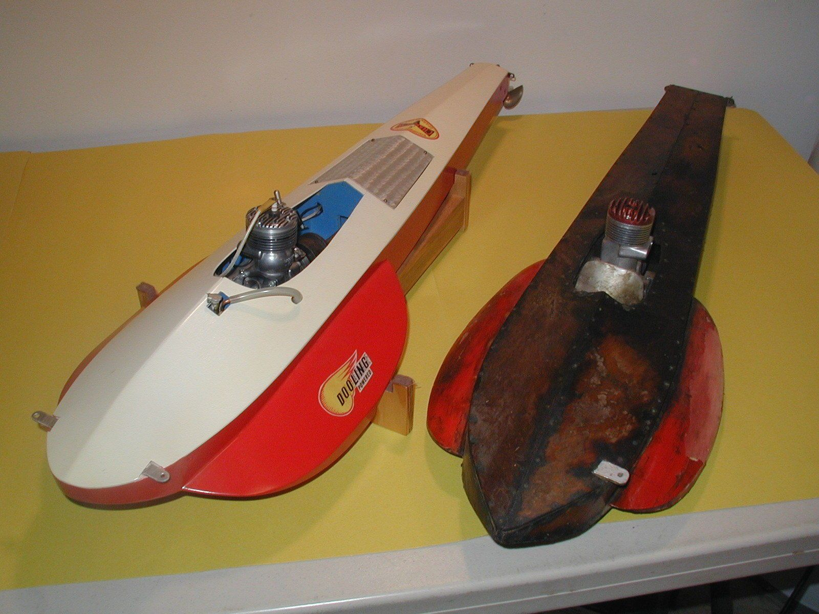 1940's Tether Boat Hydroplane with Dooling Model Airplane