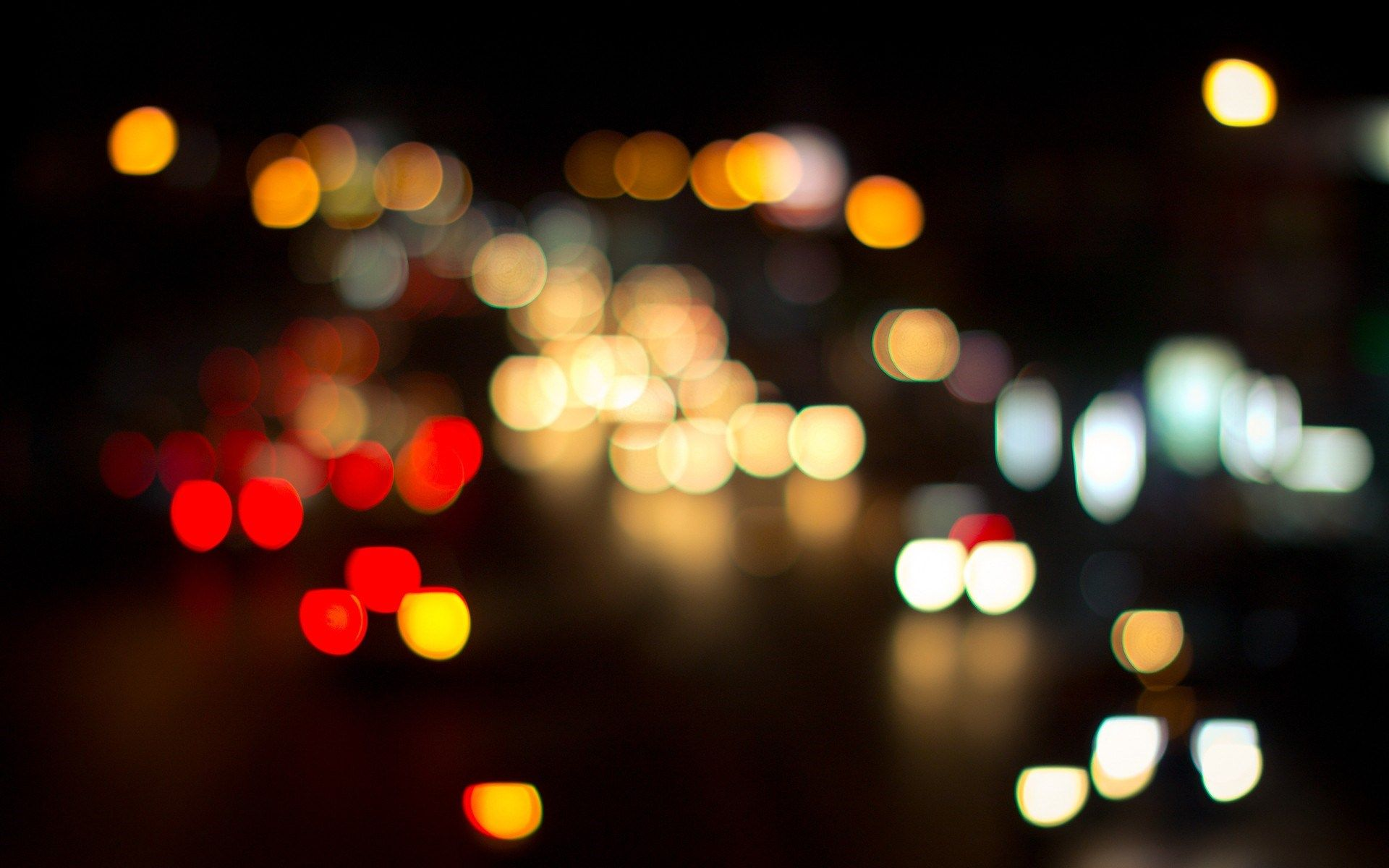 Bokeh Lights Night City Hd Wallpaper Desktop