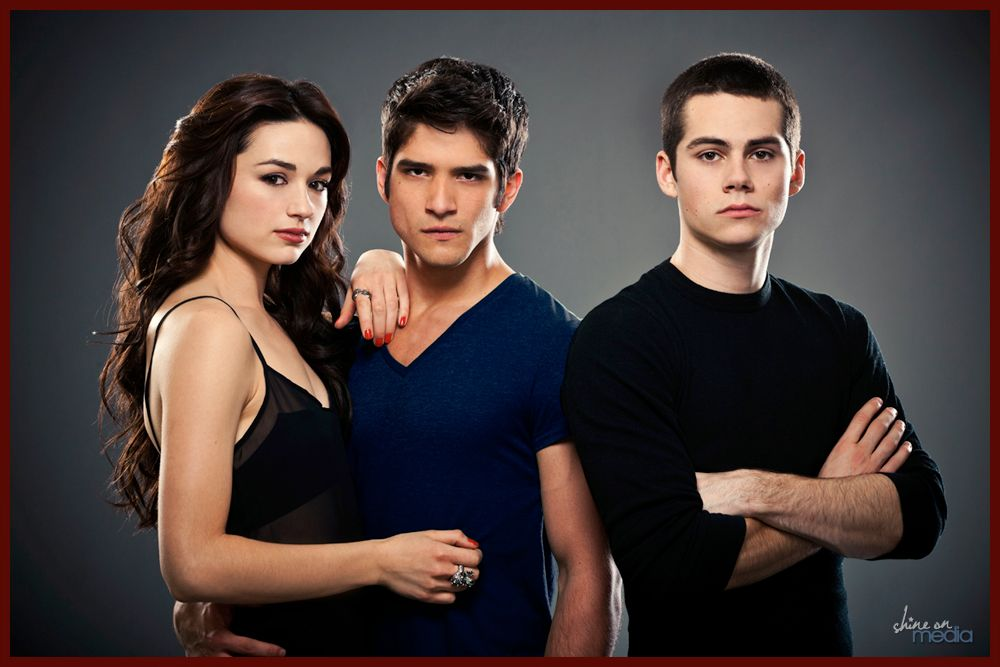 Photo of Crystal Reed as Allison Argent, Tyler Posey as Scott McCall and Dylan O'Brien as…