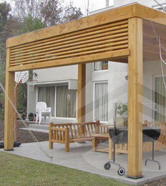 Resultado de imagen para cobertizo patio trasero laterales - Ideas para pergolas ...