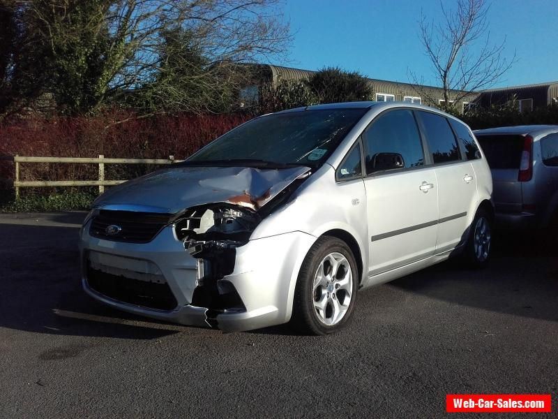 2007 Ford C Max Zetec Silver Damaged Repairable