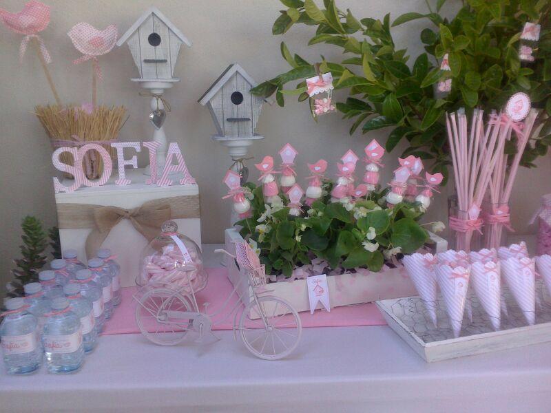 Comuni n mesa dulce varios pinterest babies ideas for Mesas dulces comunion nina