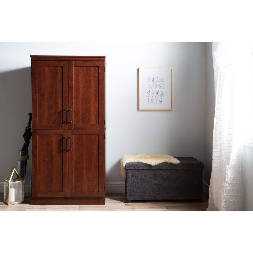 South shore morgan royal cherry armoire armoires and products