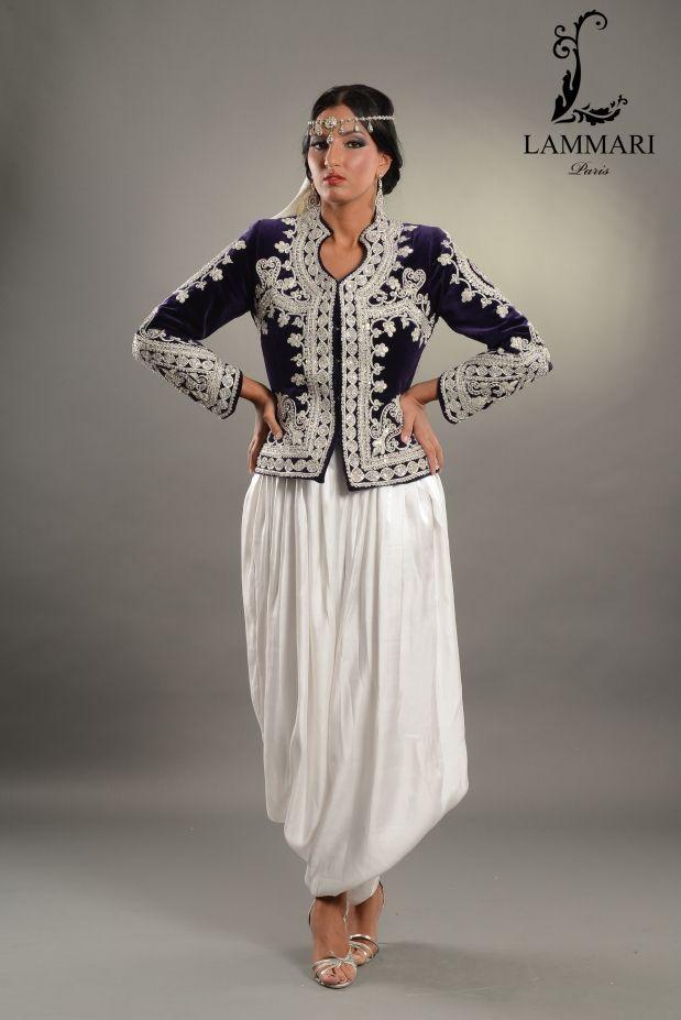 f24345071fa Karakou Bleue Argent. Robe Traditionnelle Algérienne