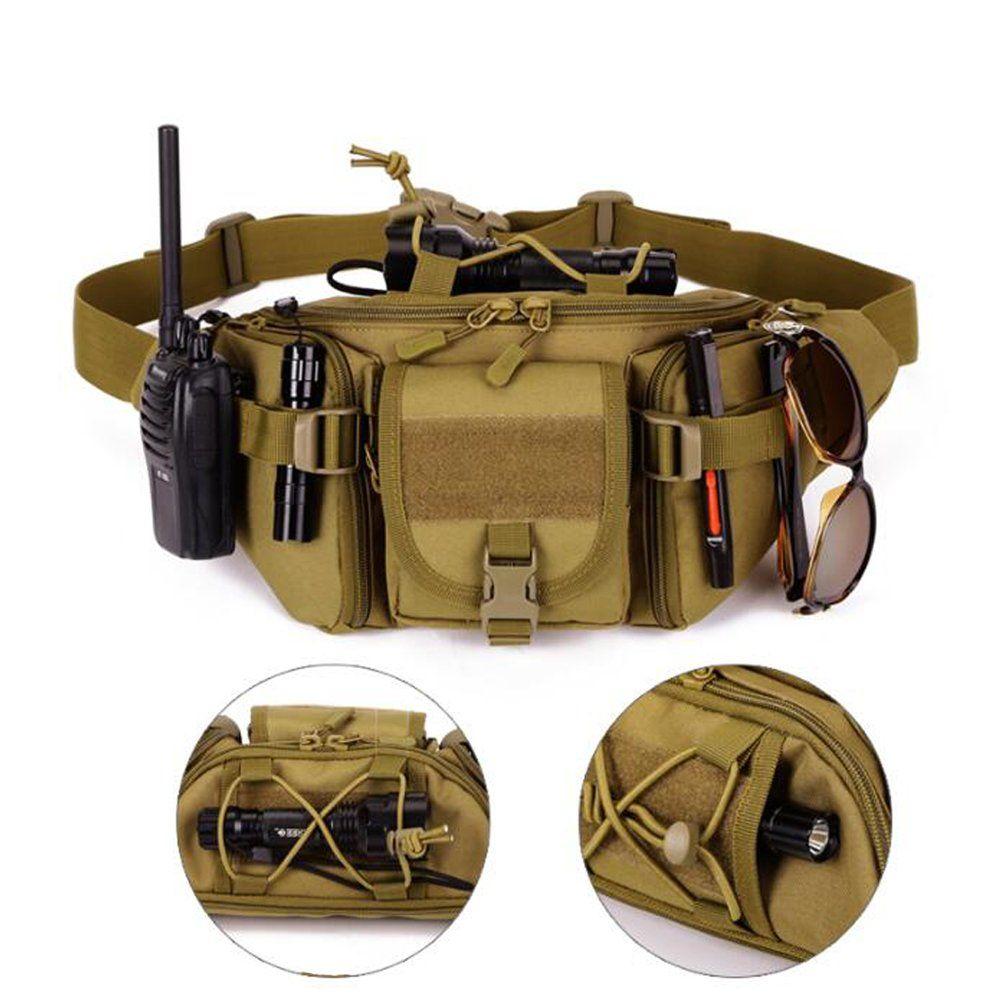 855e9d10fad1 DYJ Utility Multipurpose Molle Tactical Waist Bag Hip Pack Military ...