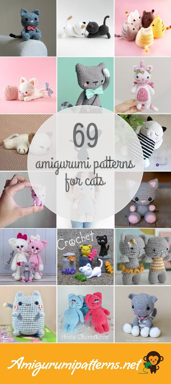 Amigurumi Patterns For Cats | ANIMAUX CROCHET | Pinterest ...