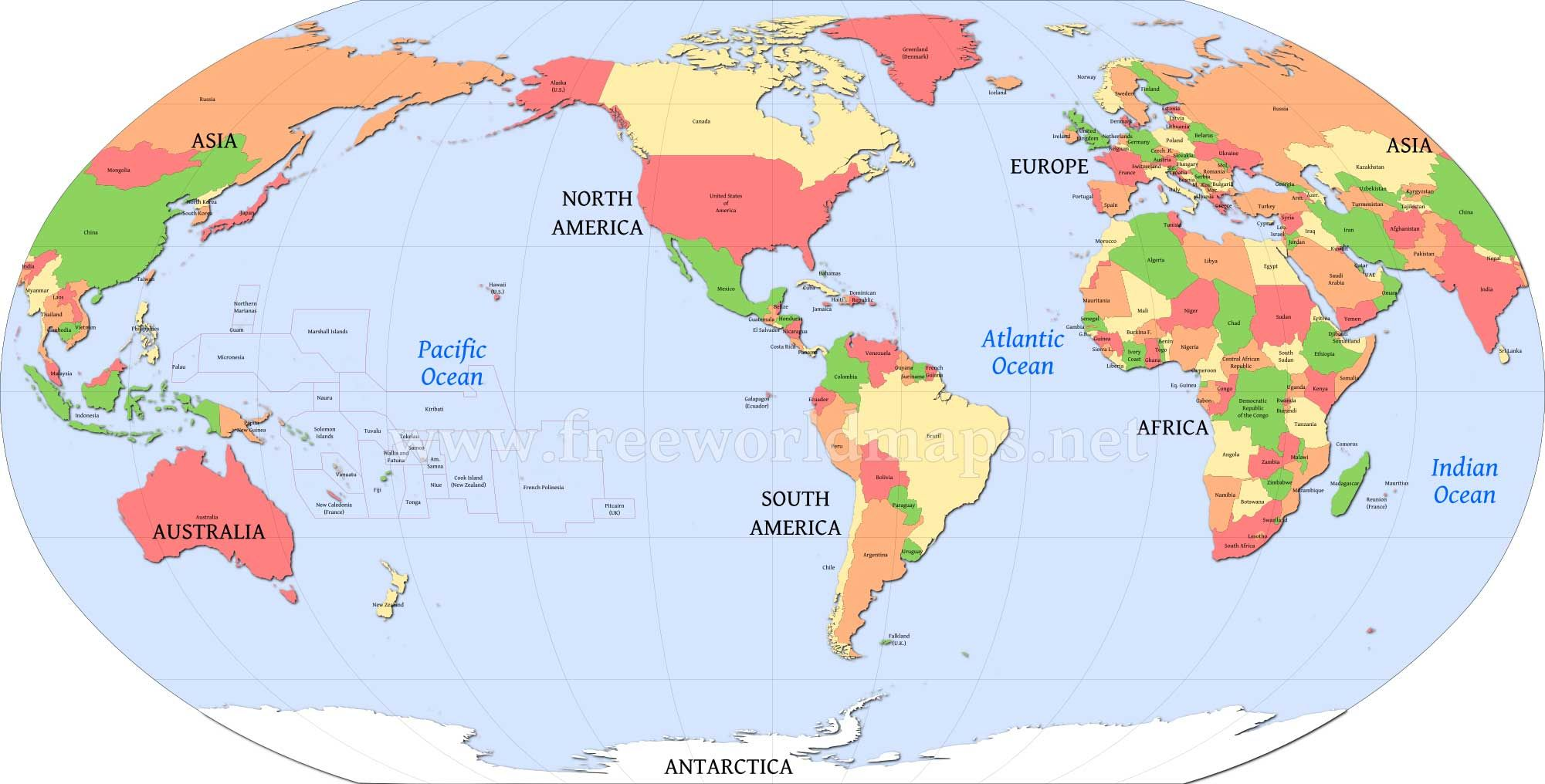 Us Centric World Map America Centric World map | Blank world map, World map picture