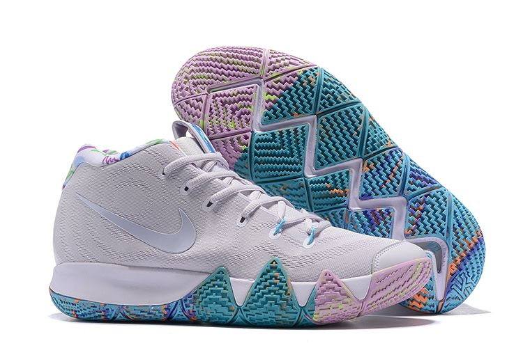 """78b1068576c1 Nike Kyrie 4 """"Easter"""" White Multicolor For Sale"""