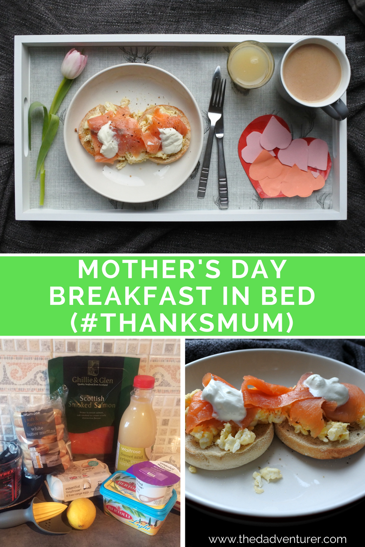 This impressive looking breakfast in bed was cooked for Mother's Day. Despite only being 2.5 years old, Toddler L did a lot of the preparation and cooked scrambled eggs and salmon on muffins for mummy's special day. The tasty ingredients are from @waitrose and the flowers from WaitroseFlorists. Use the hashtag #thanksmum to tell Waitrose how you're treating your mum this Mother's Day to be in with the chance of winning Emma Bridgewater bouquet and hamper. (ad)