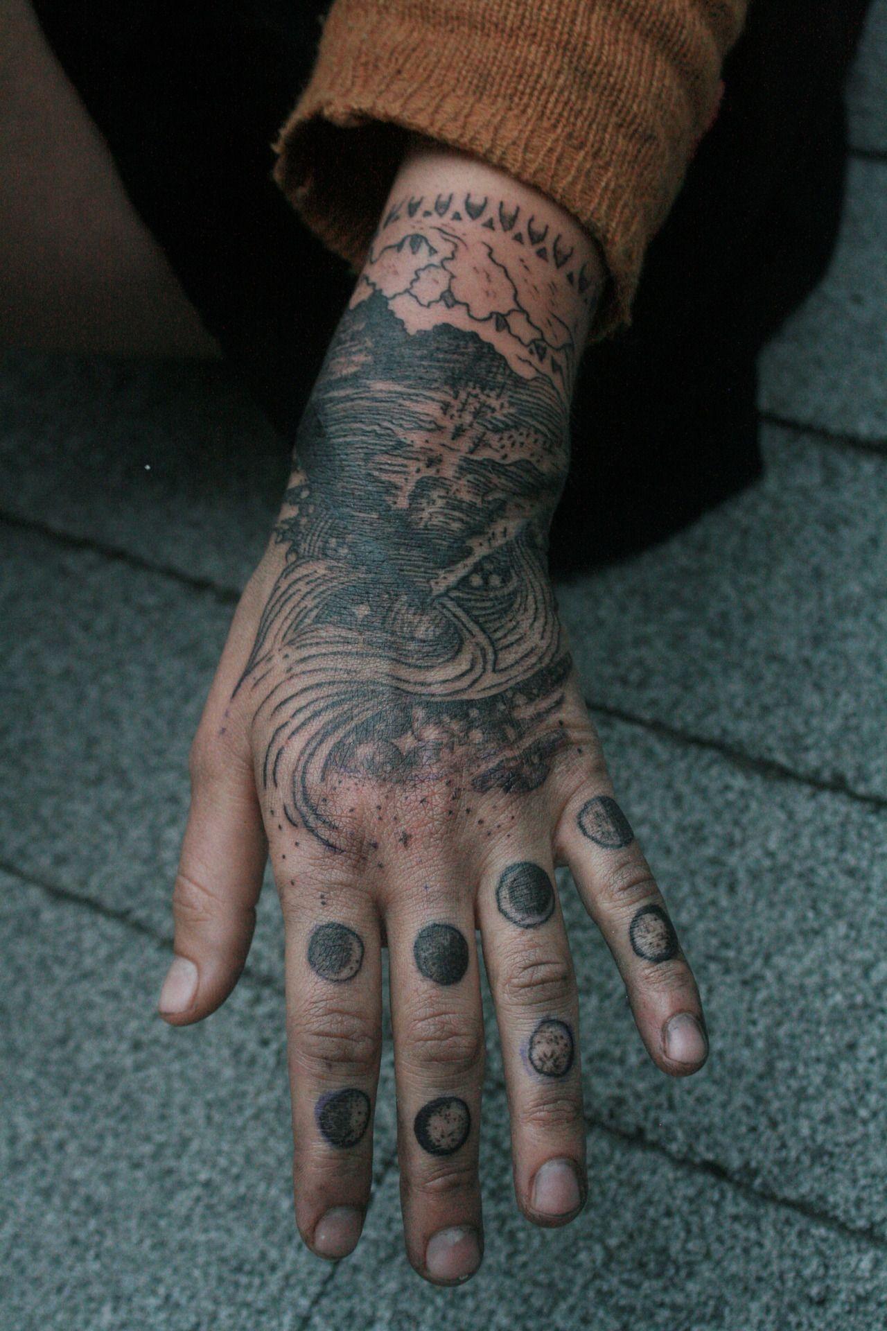 Tattoos little tumblr hand Wolf Hart