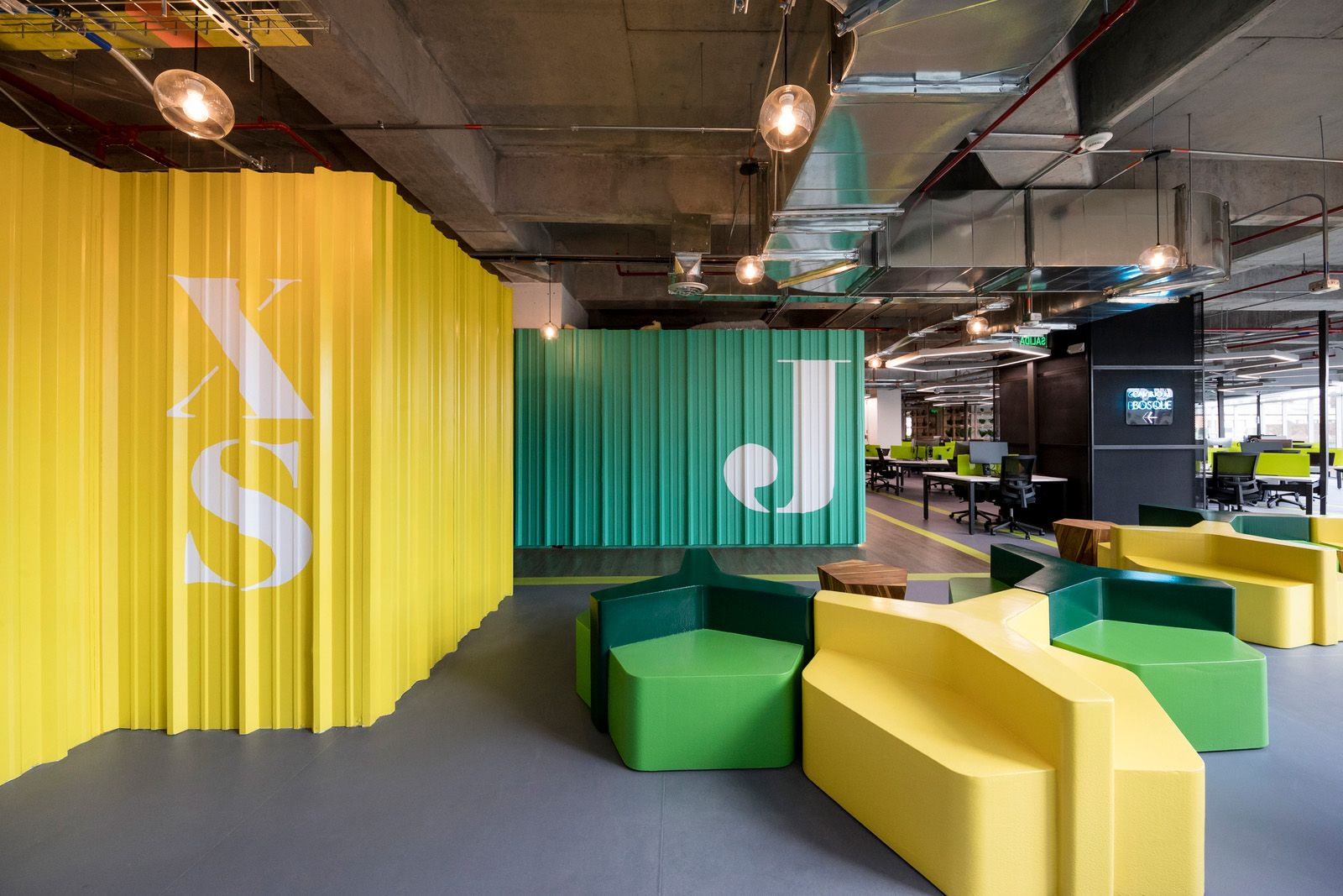 Office Tour Globant Offices Bogot Workplace And Walls # Muebles Rotterdam Bogota