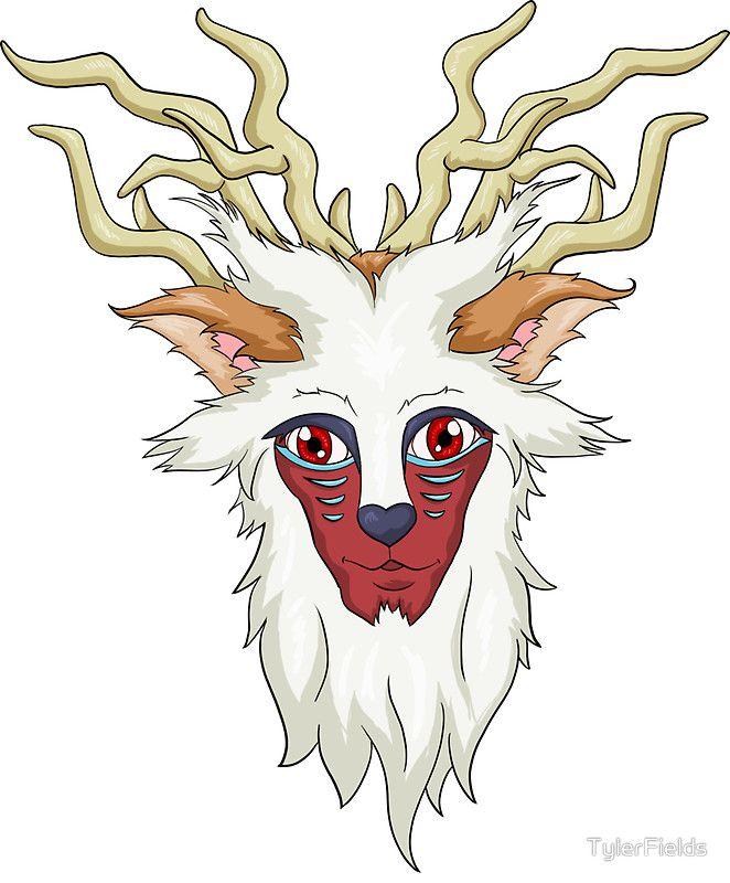 princess mononoke forest spirit head