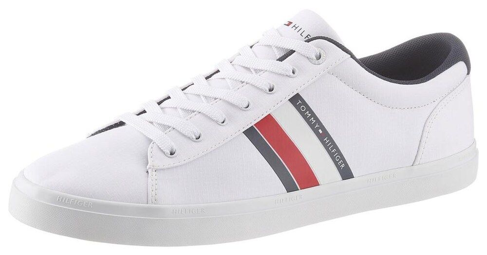 Tommy Hilfiger Sneaker Harrison 5d Herren Rot Weiss Dunkelblau Grosse 42 In 2020 Tommy Hilfiger Sneaker Dunkelblau Und Blau