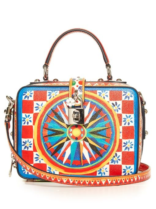 ab302805a1 DOLCE   GABBANA Dolce Soft Majolica-print leather box bag.  dolcegabbana   bags  leather