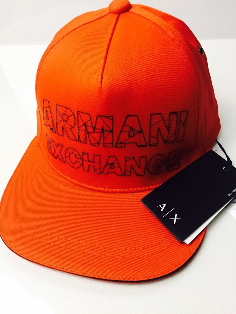 0a0a776d9fe8 New Armani Exchange AX Mens REFRACTED LOGO HAT (eBay Link)