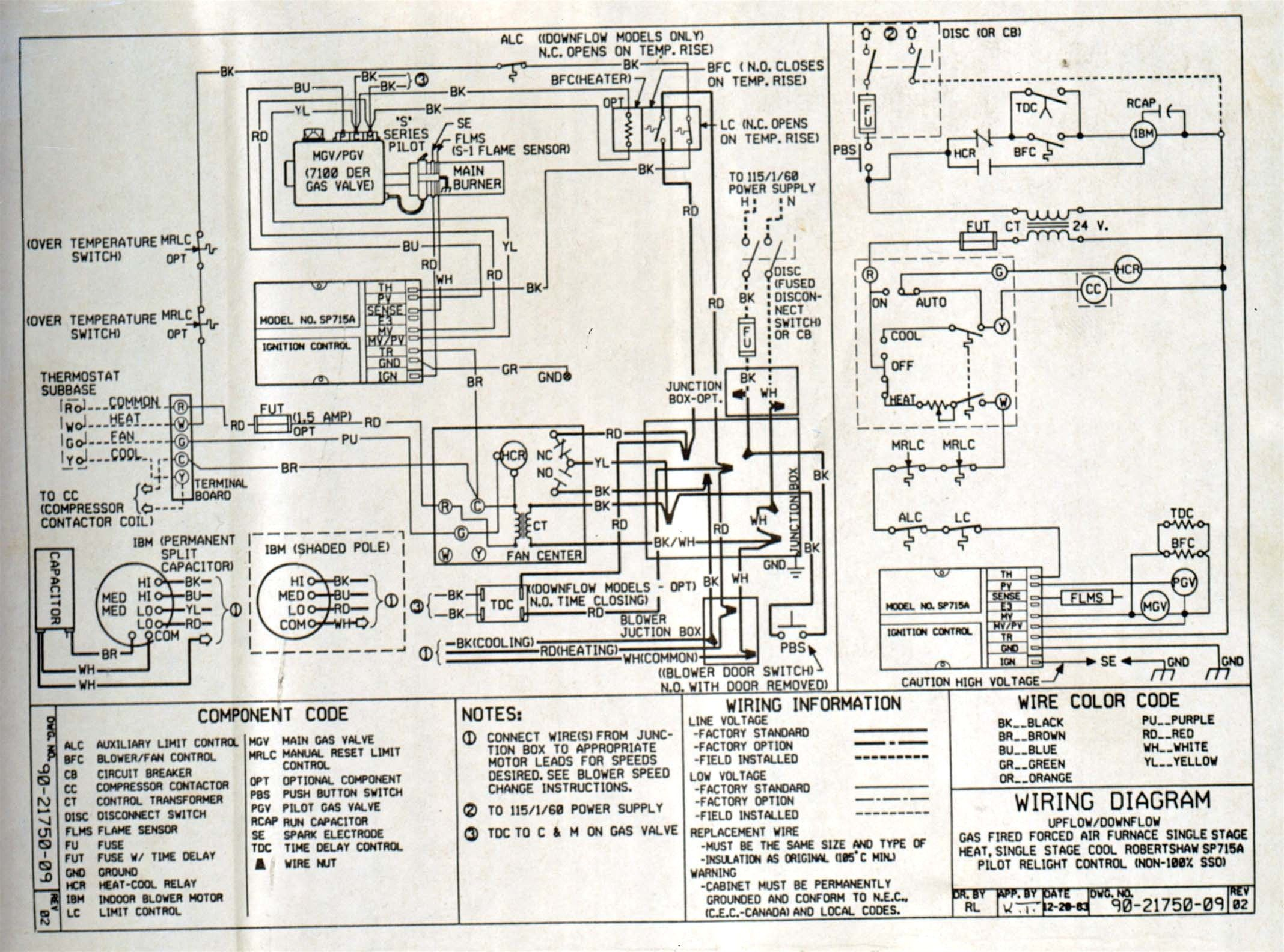 5e206 Coleman Package Unit Wiring Diagram