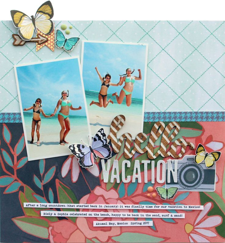 Hello Vacation Pinterest Scrapbook Layouts Scrapbook And Layouts