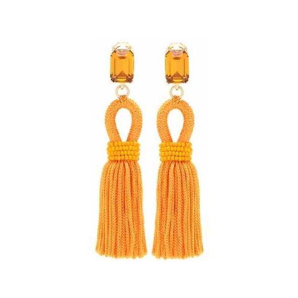 tiered tassel earrings - Yellow & Orange Oscar De La Renta TU5efa