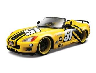 This Honda S2000 Diecast Model Car is Yellow and features working wheels and also opening bonnet with engine, doors. It is made by Maisto and is 1:24 scale (approx. 17cm / 6.7in long).  ...