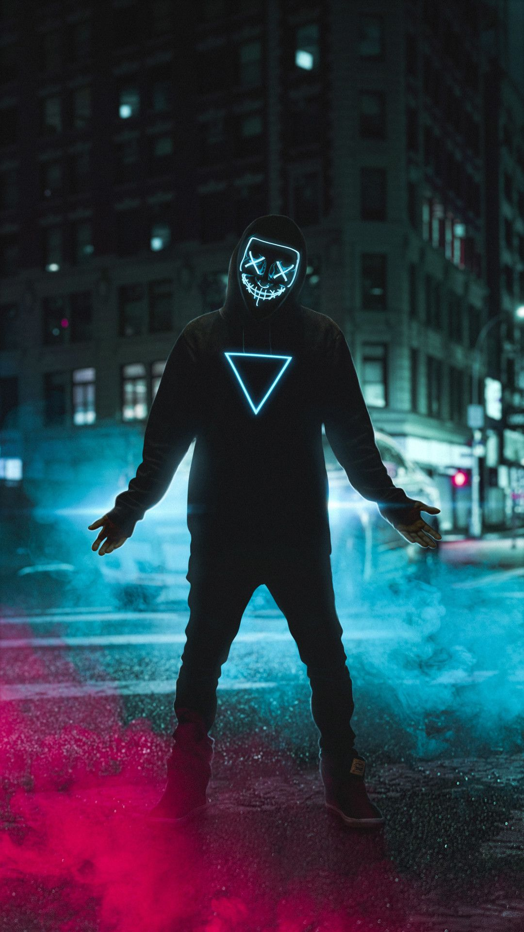 Neon Mask Boy 4k Mobile Wallpaper Iphone Android Samsung Pixel Xiaomi In 2020 With Images Hipster Wallpaper Neon Wallpaper Iphone Wallpaper