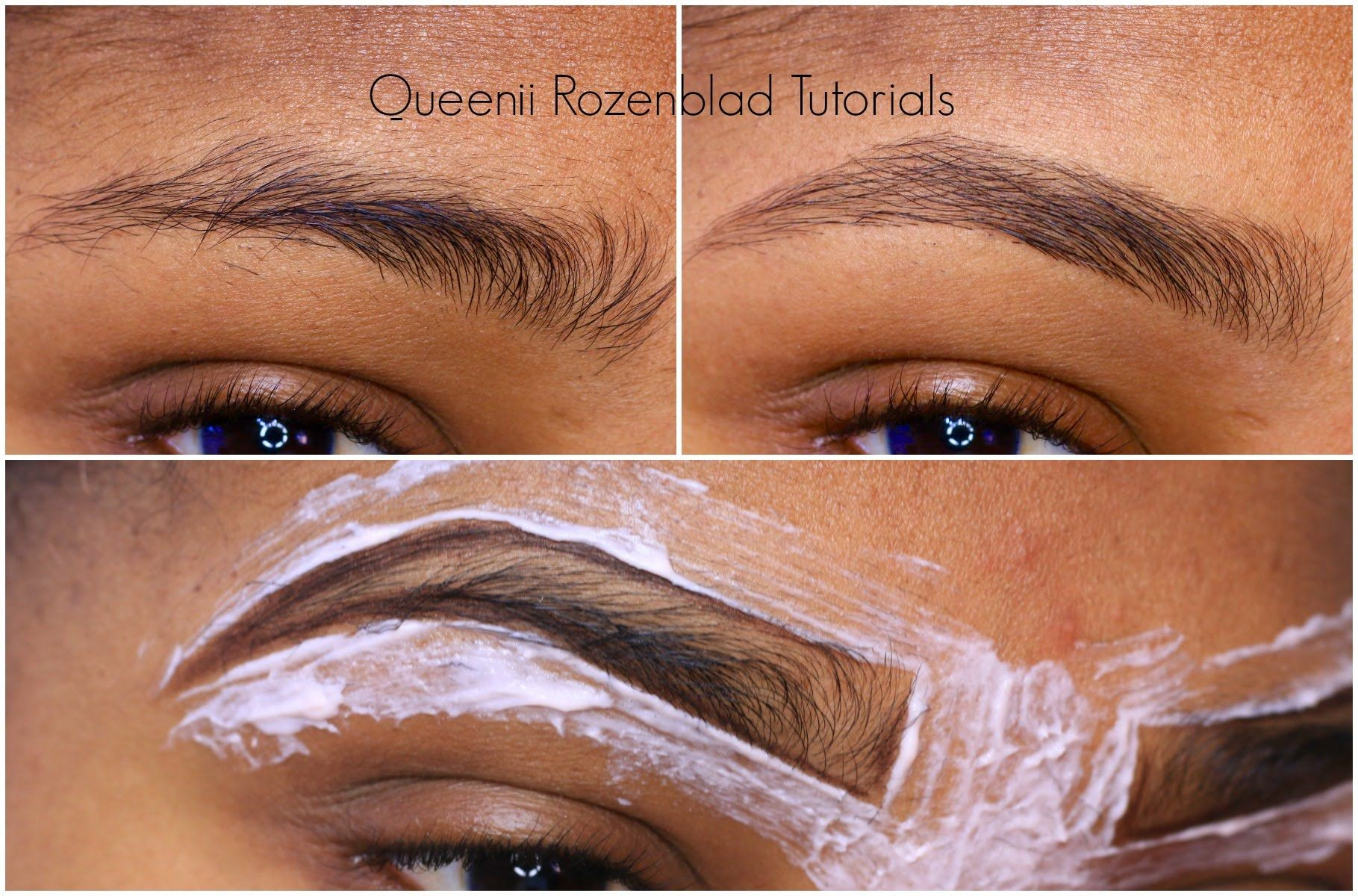 How I Groom My Brows At Home Queenii Rozenblad Helpful Youtube