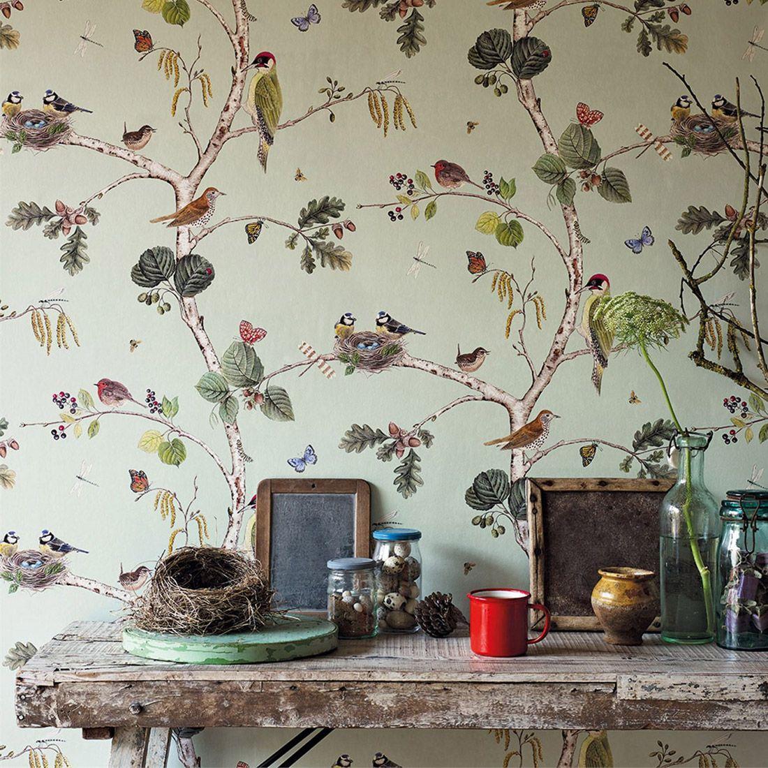 Vogelmotive: Tapete Woodland Chorus #küche #wohnzimmer