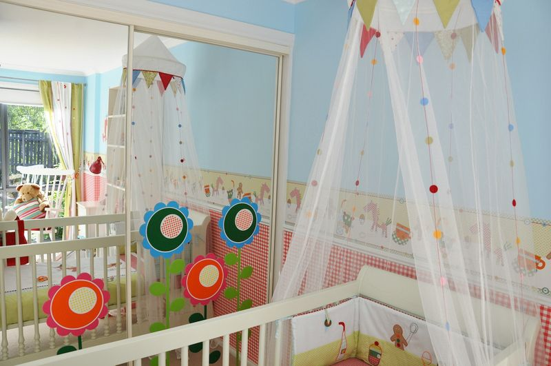 Gallery roundup crib canopies canopy nursery and babies for Diy canopy over crib