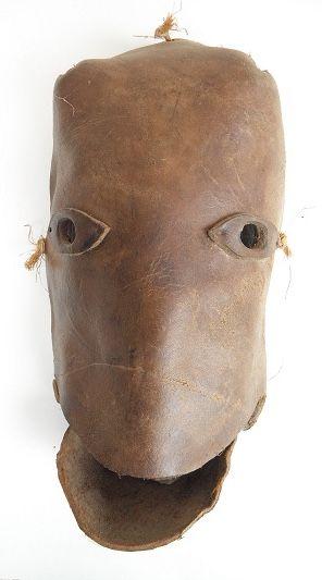Leather face, Veracruz.  #mexicanmasks desotocollection.com