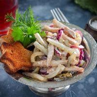 Салат с жареным мясом рецепт с фото пошагово | Рецепт в ...