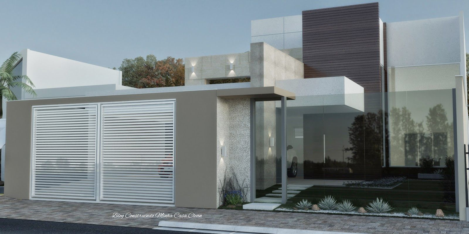 casas modernas com vidro e madeira - Buscar con Google