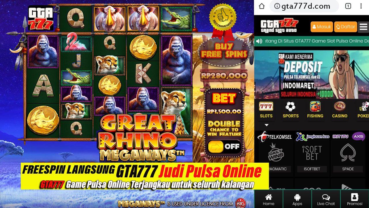 FreeSpin Slot Online LANGSUNG di GTA777 | Online casino slots, Slot online,  Slot