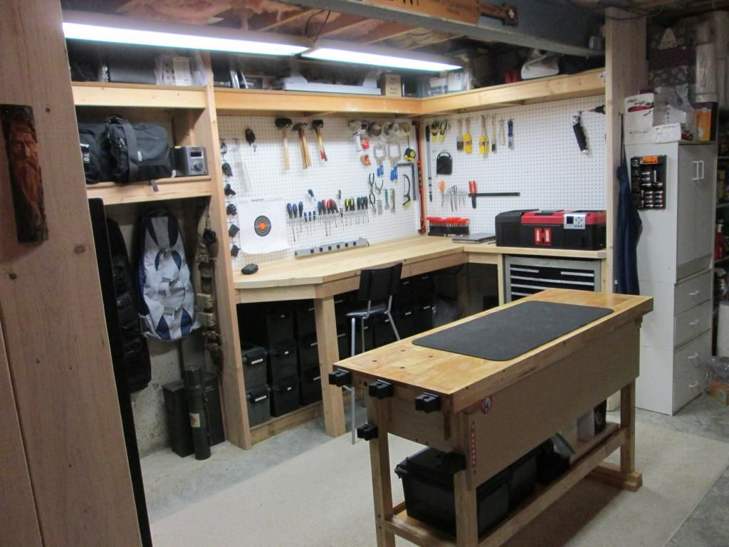 My gun safe and work area build a home for the twins for How to build a safe room in your basement