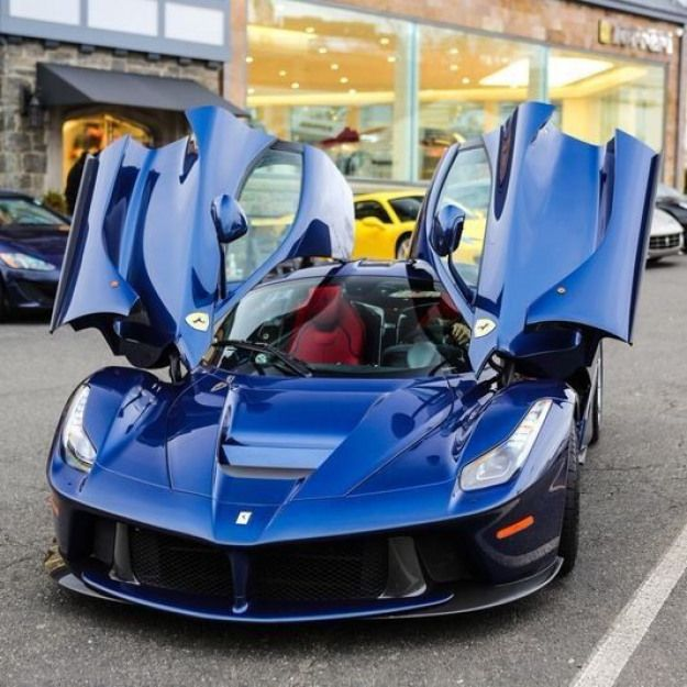 Ferrari Laferrari painted in Blu Tour De France Photo taken by: Unknown #exoticcars #exotic #cars #baby #ferrarilaferrari
