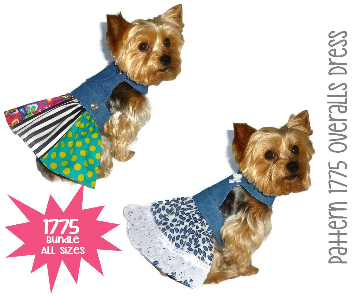 How to sew overalls for dogs 11