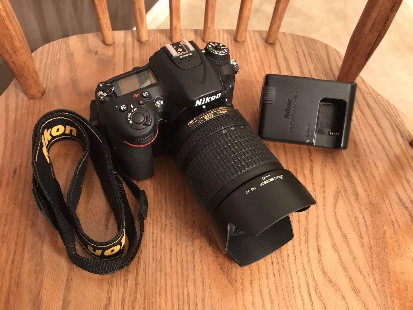 Nikon D7200 Dx Format Dslr W 18 140mm Vr Lens Black Vr Lens Digital Camera Nikon D7200