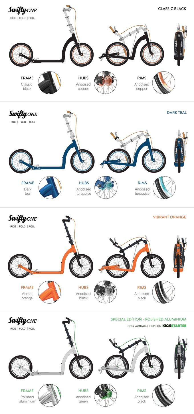 Swifty Scooters premium folding scooter / bike for adults by Camilla and Jason Iftakhar —Kickstarter