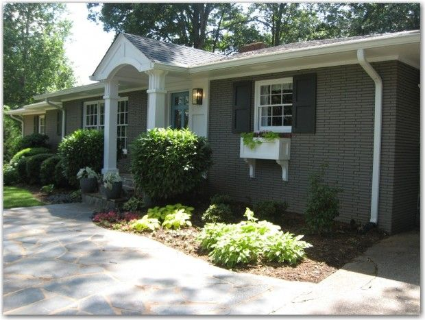 Curb Appeal Ideas For L Shaped Rambler Front Yard Landscaping House Colors Pinterest