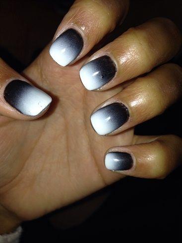 Black To White Airbrush Airbrush Nails Nail Art Nails