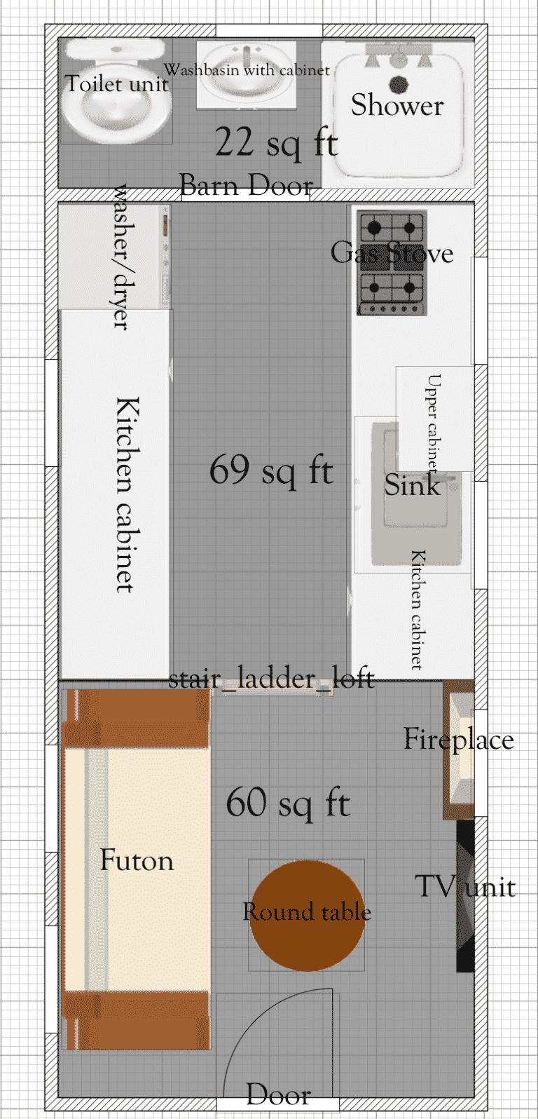 Free Tiny House Floor Plans 8 X 20 Tiny House Plan Tiny House Floor Plans Tiny House Plans Tiny House Plan