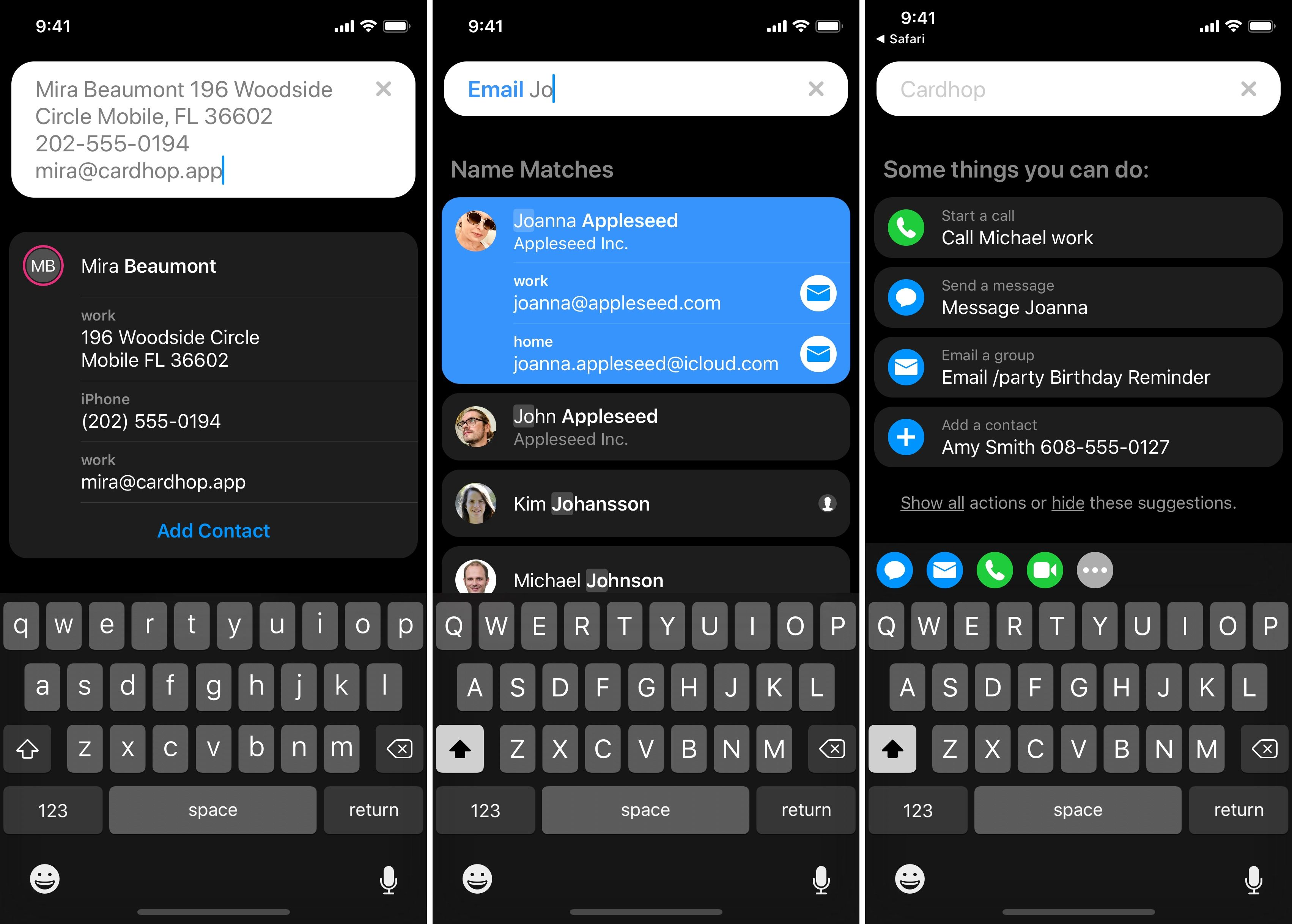 Contacts app Cardhop comes to iOS App support