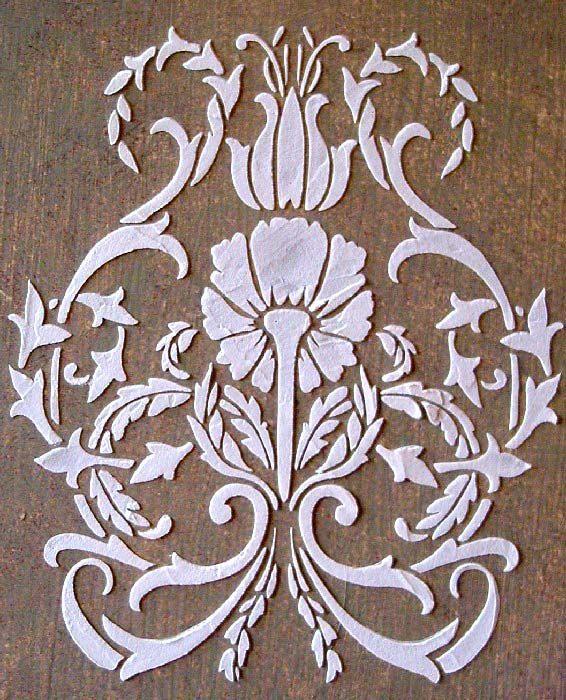 Raised Plaster Fl Damask Stencil Craft Wall Furniture Painting