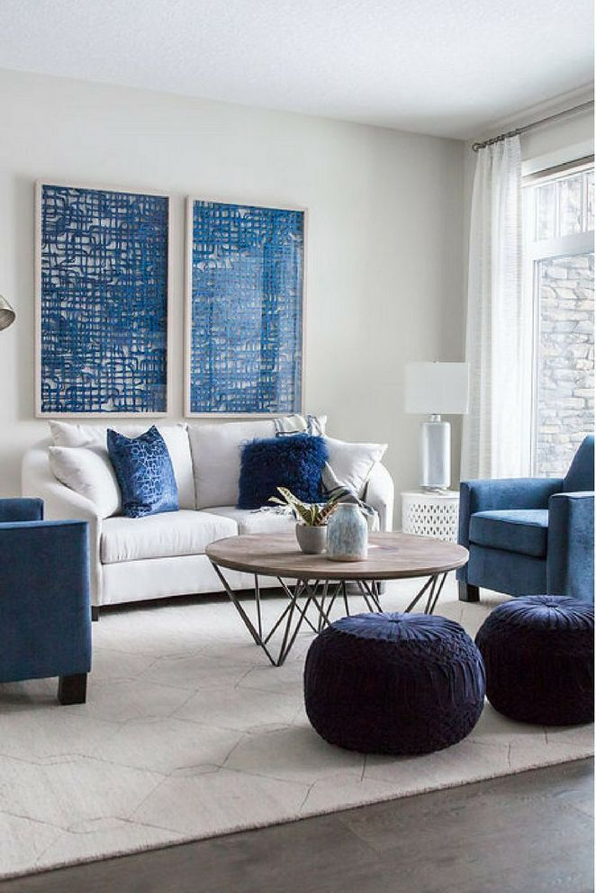 40 Buying Navy Blue Couch Living Room Pecansthomedecor Com Monochrome Living Room Blue Couch Living Room Blue Living Room Decor
